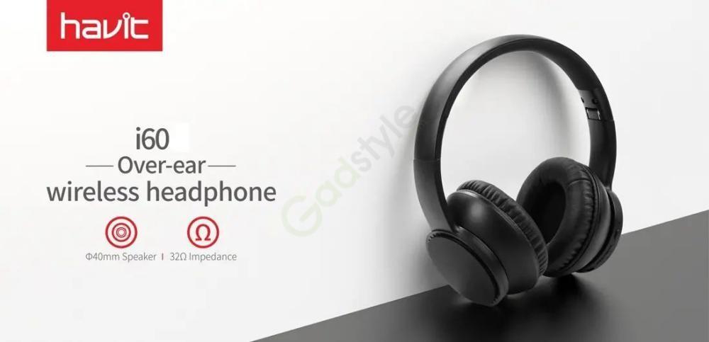 Havit I60 Wireless Bluetooth Headphone 40mm Dynamic Driver (4)
