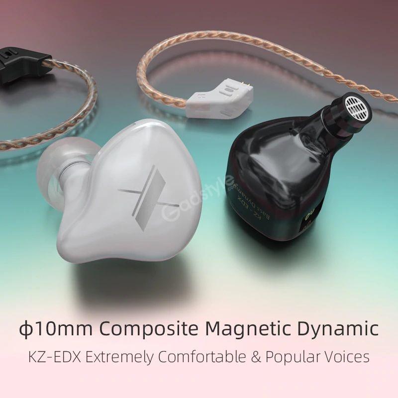 Kz Edx Magnetic Dynamic Driver Hifi In Ear Earphones (2)
