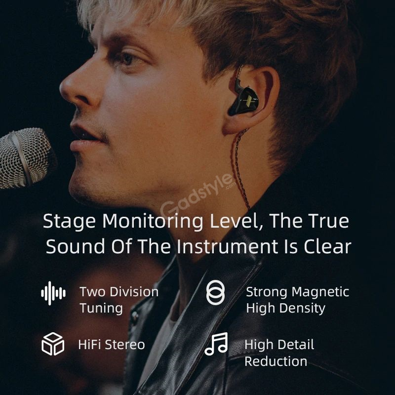 Kz Edx Magnetic Dynamic Driver Hifi In Ear Earphones (4)