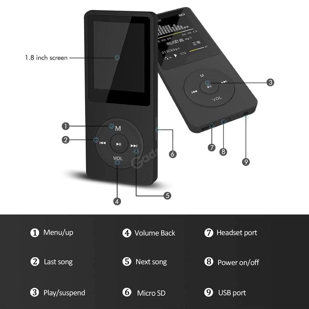 Mini Portable Mp3 Mp4 Music Player Fm Recorder Tf Card (5)