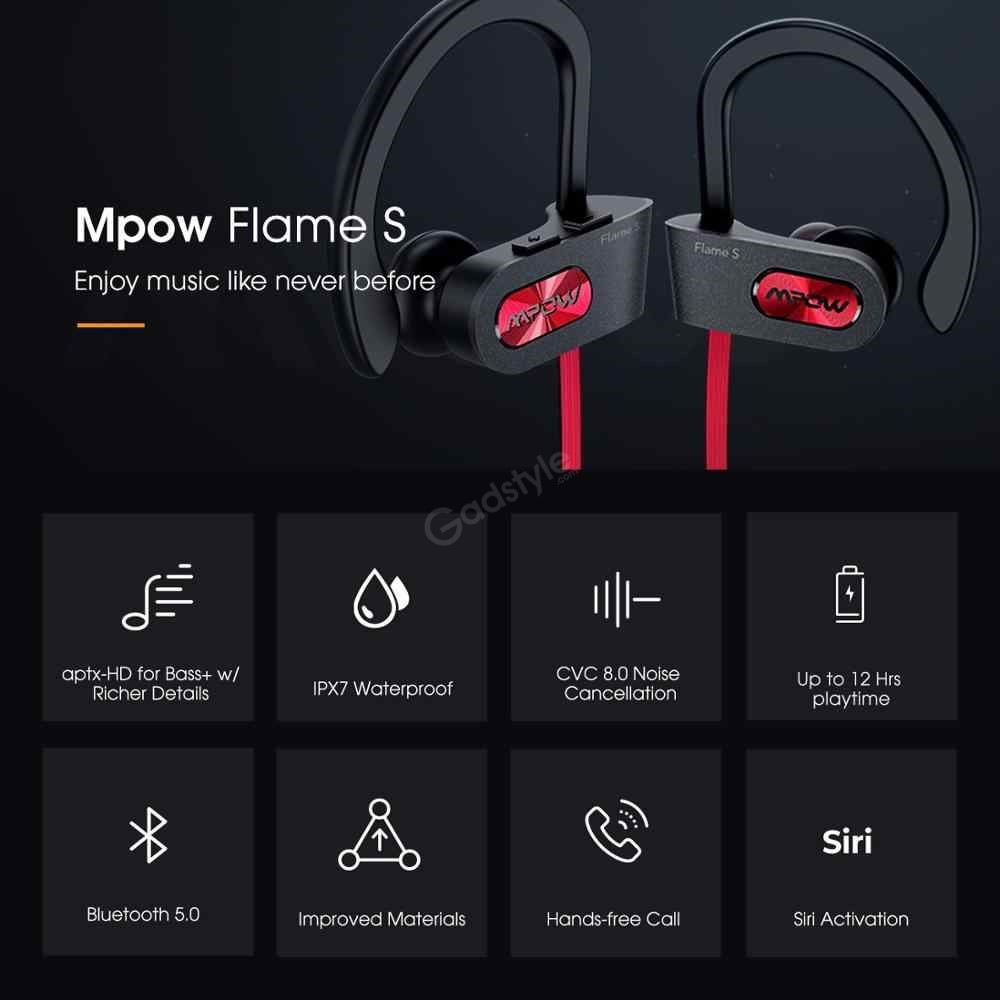 Mpow Flame S Bluetooth Sports Neckband (6)