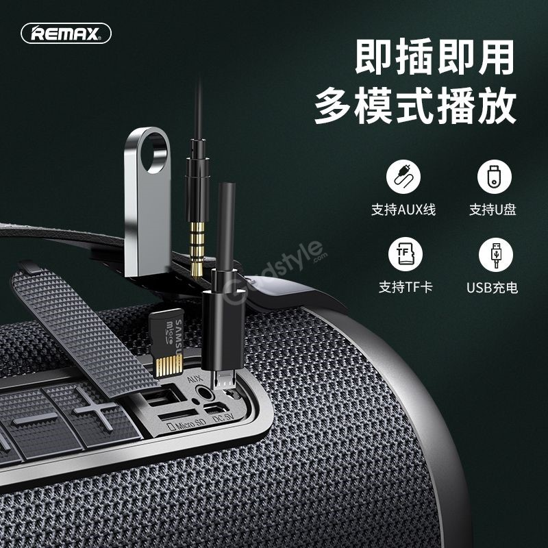 Remax M43 Portable Subwoofer Bluetooth Speaker Support Tf Card U Disk Aux In (2)