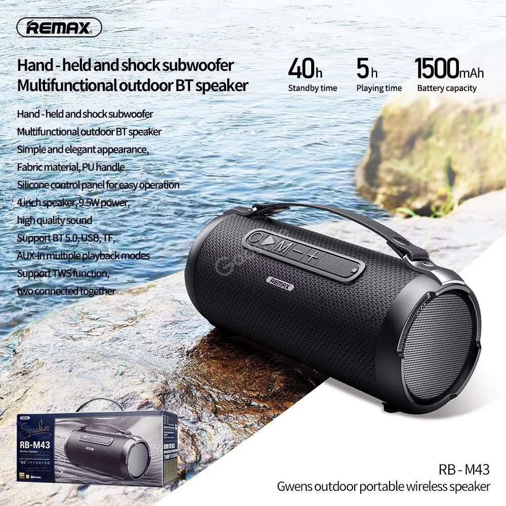 Remax M43 Portable Subwoofer Bluetooth Speaker Support Tf Card U Disk Aux In (5)