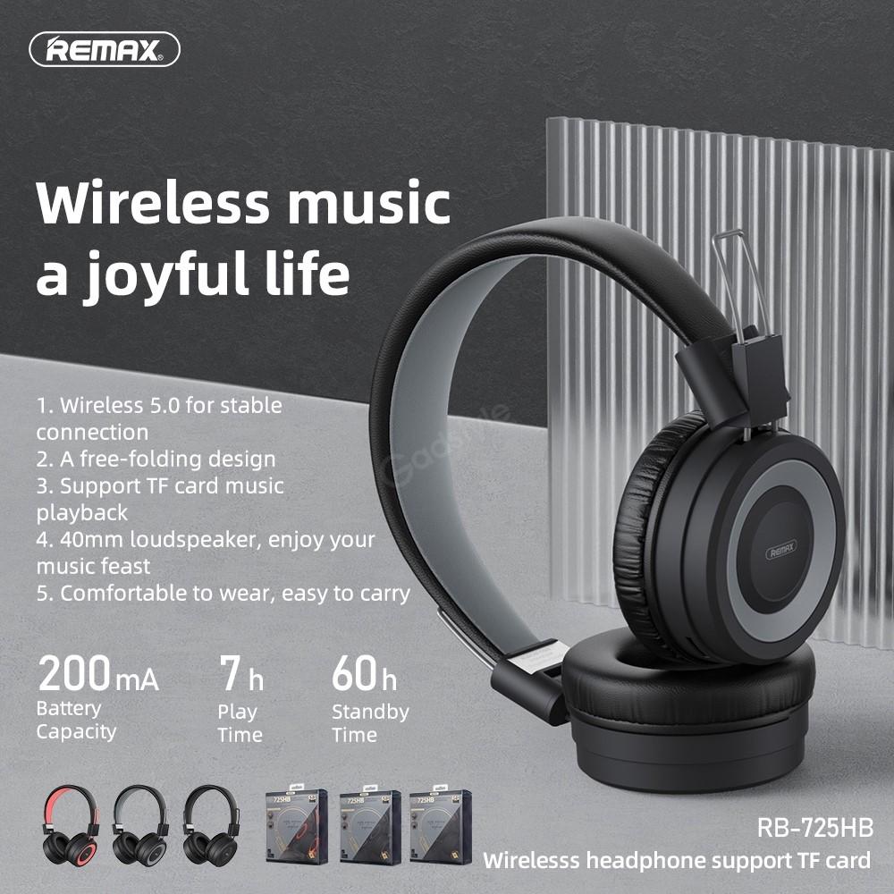 Remax Rb 725hb Bluetooth 5 0 Wireless Headphones (2)