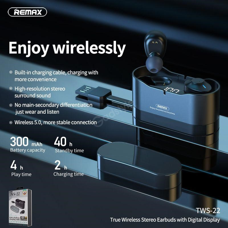 Remax Tws 22 Bluetooth Earbuds With Digital Display (6)