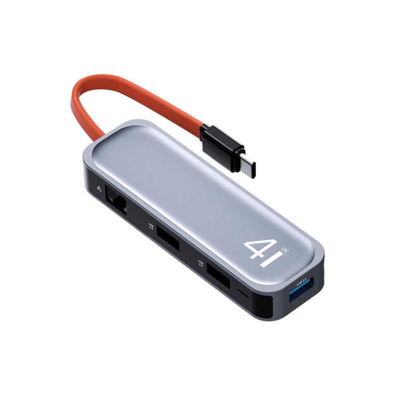 Rock Tr05 Type C To Usb 3 0 Rj45 Hub Adapter