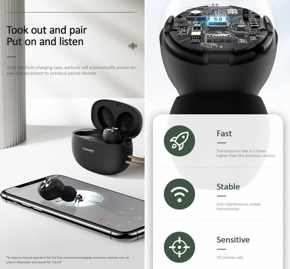 Usams Us Es001 Tws Earbuds (1)