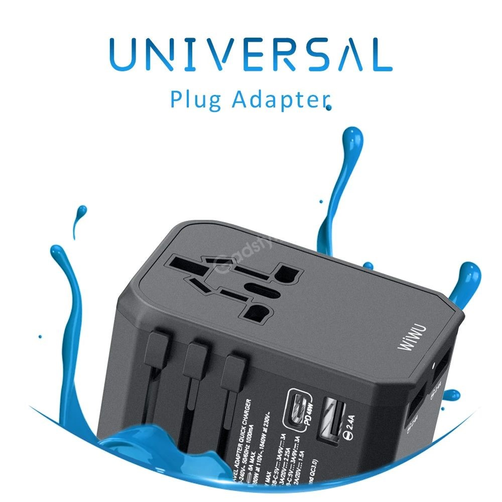 Wiwu Ua 304 Charger Adapter Travel Charger With 3 Usb Ports 45w Type C Pd Port (1)