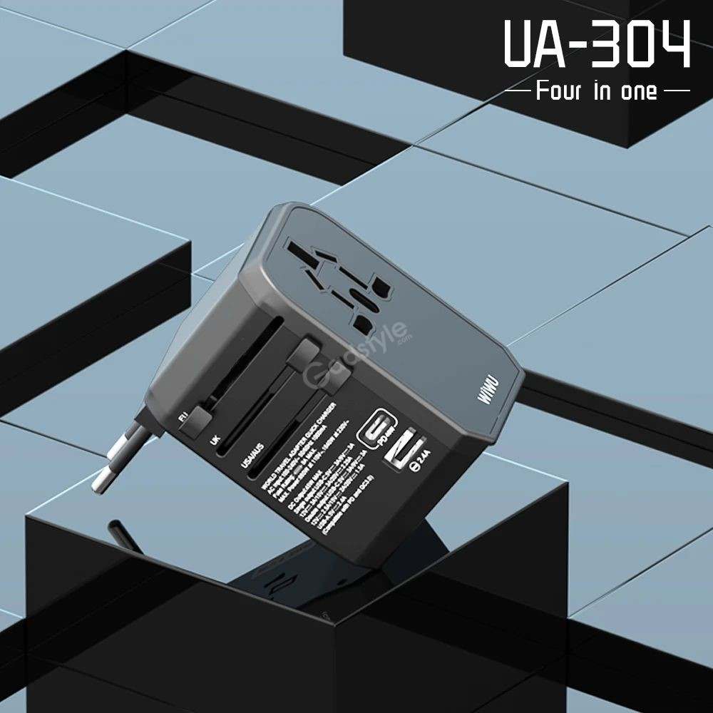 Wiwu Ua 304 Charger Adapter Travel Charger With 3 Usb Ports 45w Type C Pd Port (3)