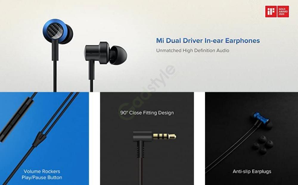 Xiaomi Mi Dual Driver In Ear Earphones With Mic (1)
