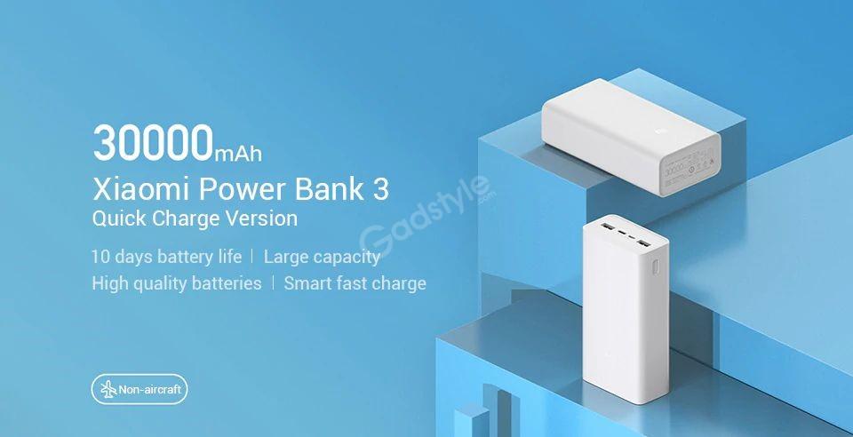 Xiaomi Power Bank 3 30000mah Pb3018zm 3 Usb Type C 18w Fast Charging Portable Mi Powerbank (3)