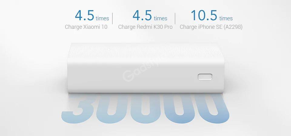 Xiaomi Power Bank 3 30000mah Pb3018zm 3 Usb Type C 18w Fast Charging Portable Mi Powerbank (4)