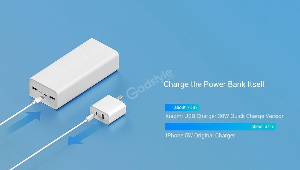 Xiaomi Power Bank 3 30000mah Pb3018zm 3 Usb Type C 18w Fast Charging Portable Mi Powerbank (6)