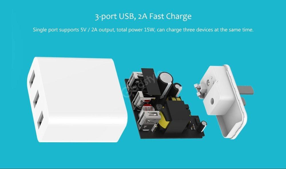 Xiaomi Qmcdz08 3 Port Usb 15w Adapter (4)