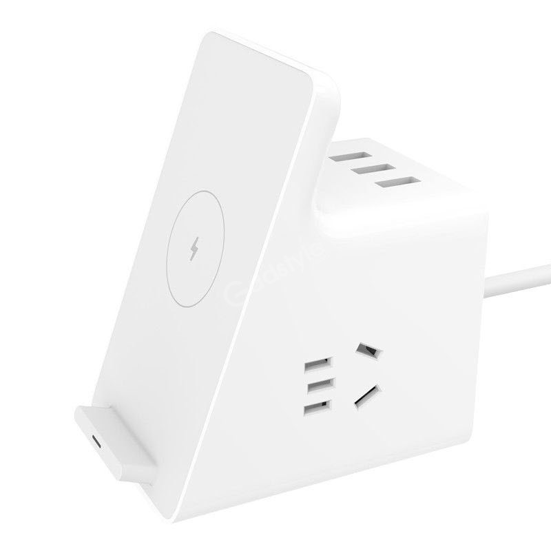 Xiaomi Vertical Wireless Charging Socket With 3 Usb Ports (1)