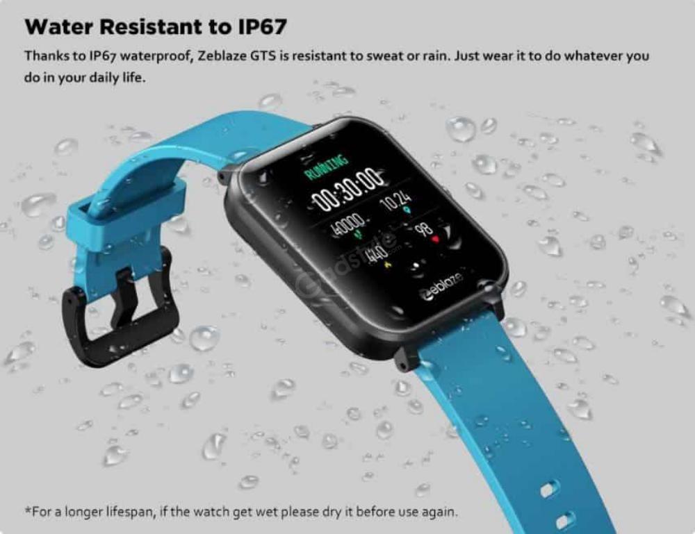 Zeblaze Gts Smartwatch Touchscreen Wearable Fitness Tracker (2)
