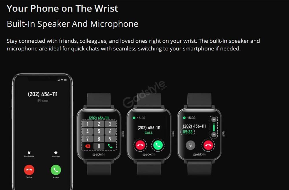 Zeblaze Gts Smartwatch Touchscreen Wearable Fitness Tracker (4)