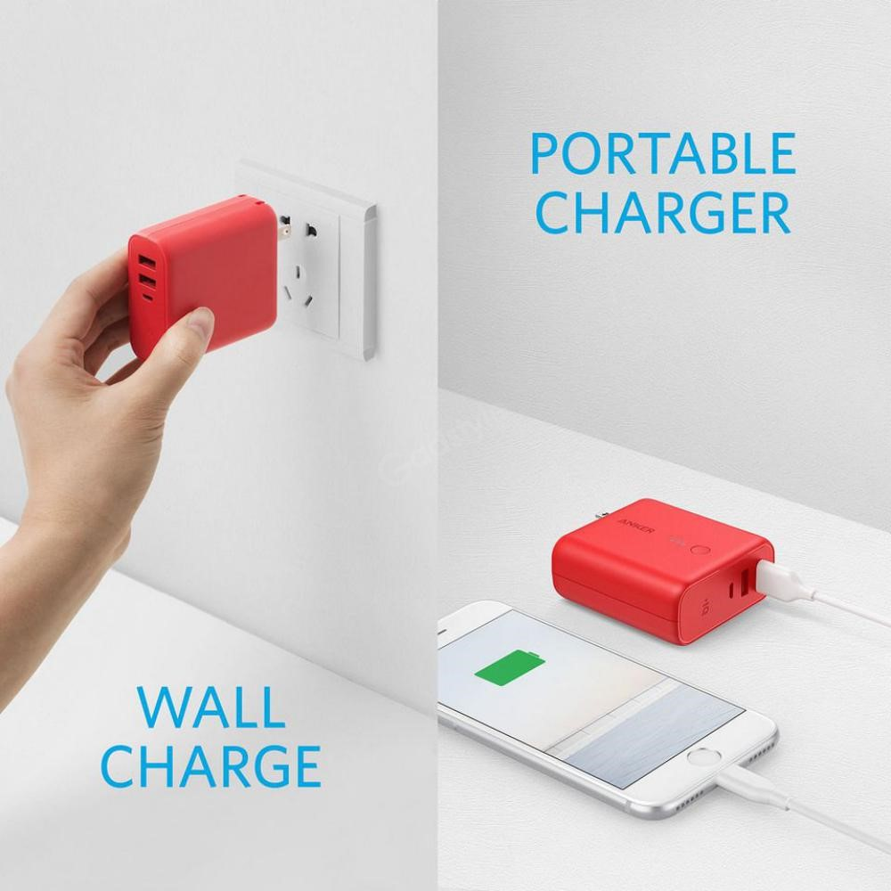 Anker Powercore Fusion 5000mah 2 In 1 Portable Wall Charger (2)