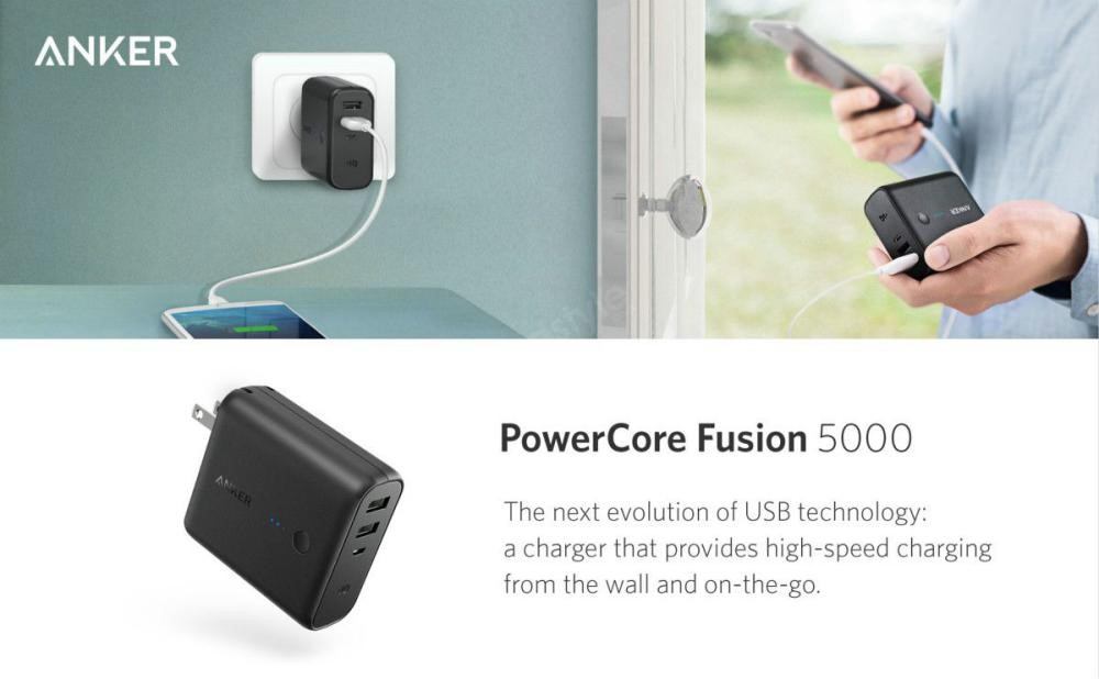 Anker Powercore Fusion 5000mah 2 In 1 Portable Wall Charger (4)