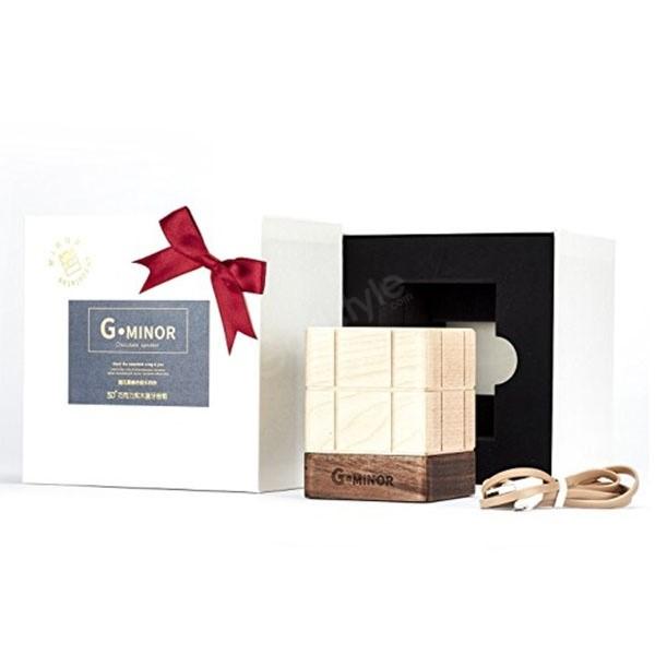 B Minor G Minor Wooden Speakers Chocolate Shaped Wireless Stereo (6)