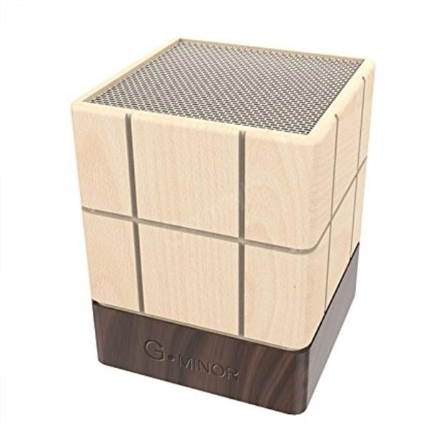 B Minor G Minor Wooden Speakers Chocolate Shaped Wireless Stereo (7)