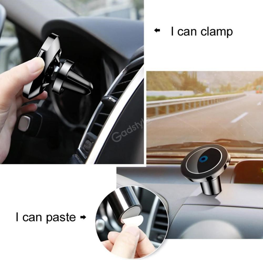 Baseus Big Ears Car Mount Holder With Wireless Qi Car Charger (7)