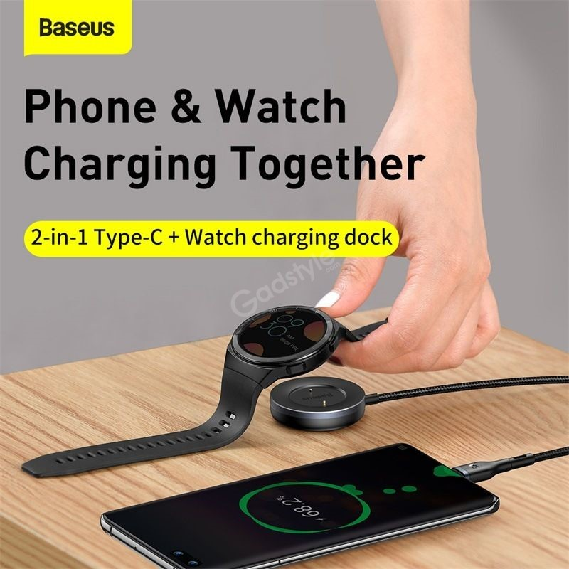 Baseus Cafule Series One For Two Data Cable Usb To Type C Watch Charging Dock (7)