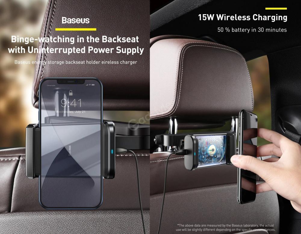 Baseus Energy Storage Backseat Holder Wireless Charger (1)