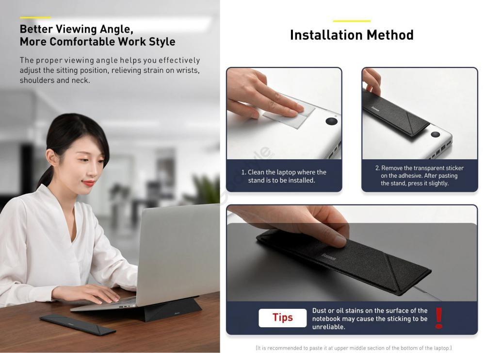 Baseus Foldable Fiberglass Portable Laptop Holder Stand (1)