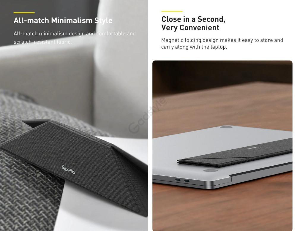 Baseus Foldable Fiberglass Portable Laptop Holder Stand (4)