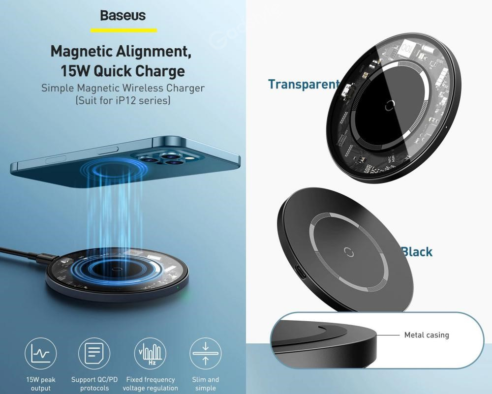 Baseus Magnetic Wireless Charger 15w (5)