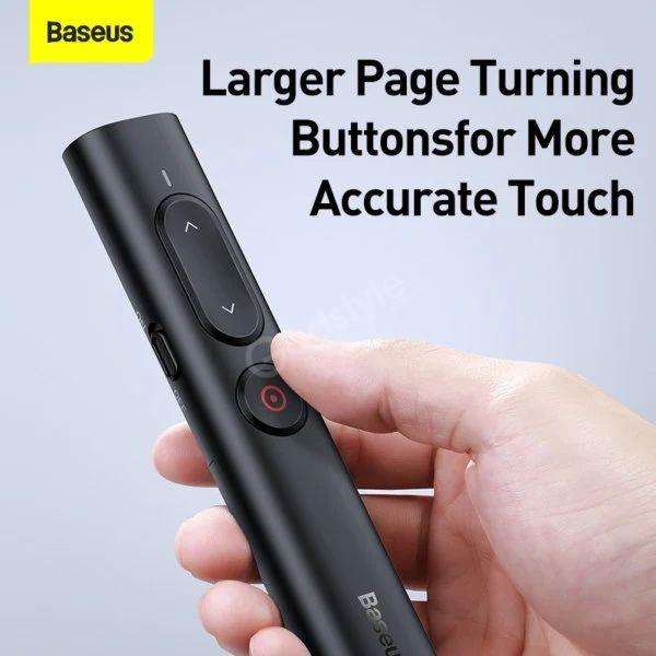 Baseus Orange Dot Remote Control Ppt Presenter Laser Pointer Pen (2)