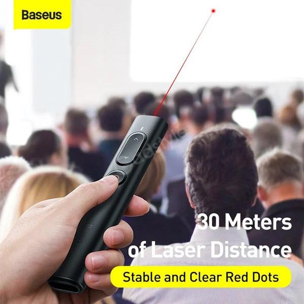 Baseus Orange Dot Remote Control Ppt Presenter Laser Pointer Pen (5)