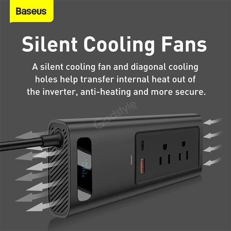 Baseus Power Inverter 150w Dual Port Fast Charging Car Power Station (1)