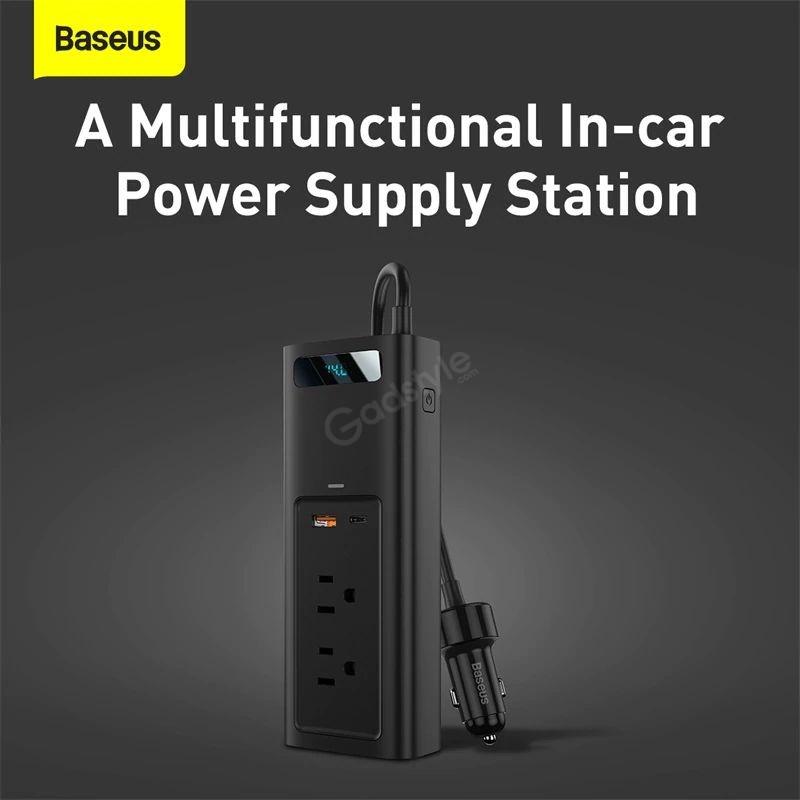 Baseus Power Inverter 150w Dual Port Fast Charging Car Power Station (4)