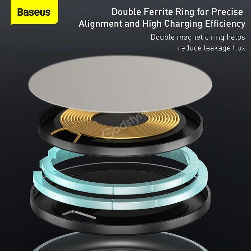 Baseus Swan Magnetic Desktop Bracket Wireless Charger For Apple 12 Series (6)
