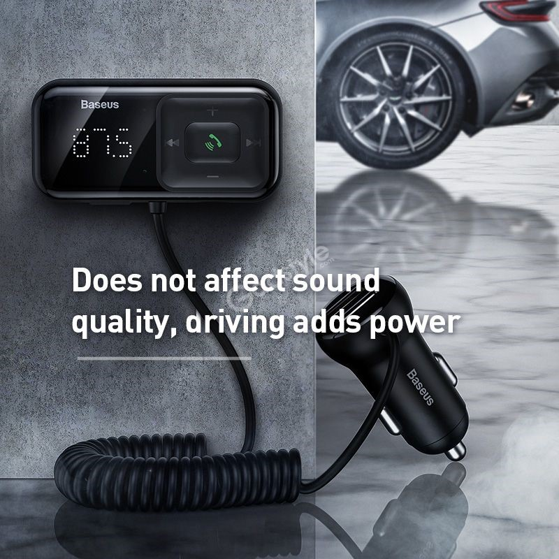 Baseus T Typed S 16 Wireless Mp3 Car Charger (2)