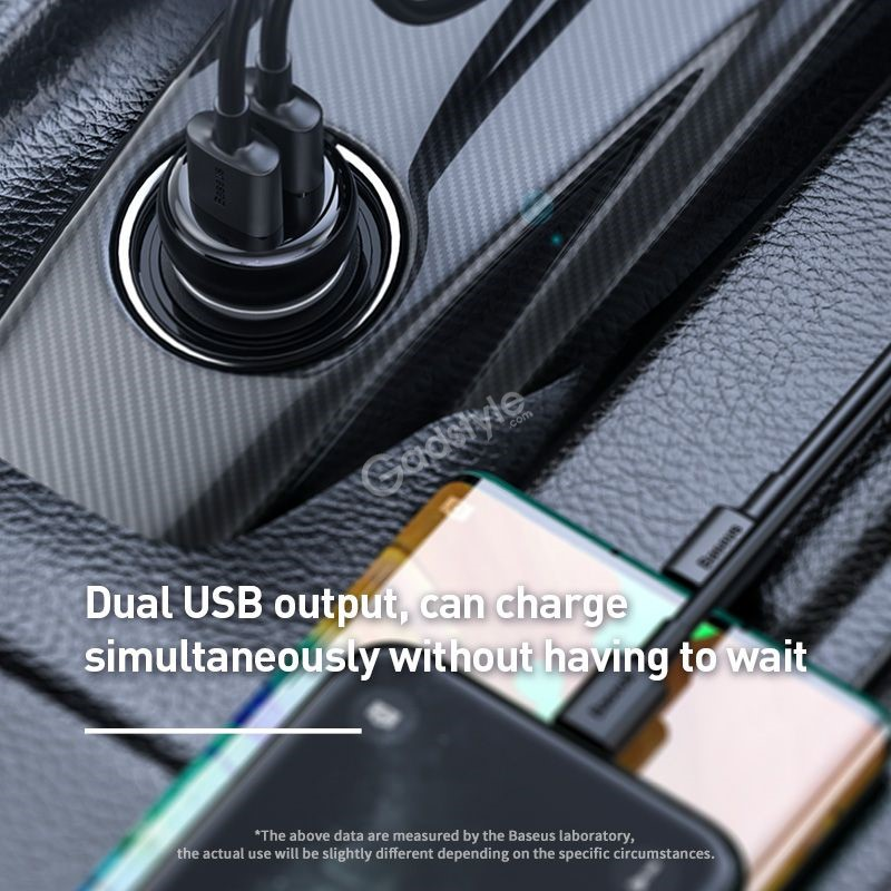 Baseus T Typed S 16 Wireless Mp3 Car Charger (4)