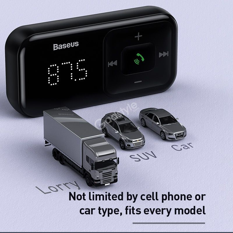 Baseus T Typed S 16 Wireless Mp3 Car Charger (5)