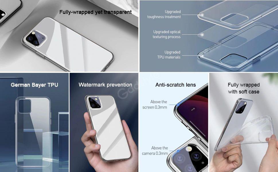 Baseus Transparent Clear Phone Case For Iphone 12 12 Mini 12 Pro 12 Pro Max (2)