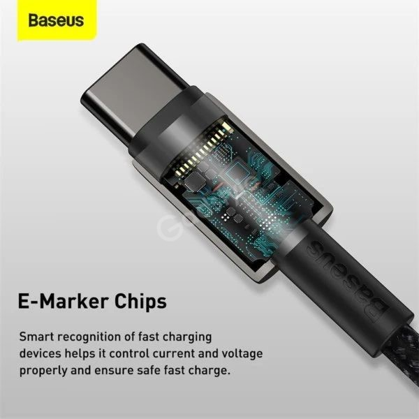 Baseus Type C To Type C 100w Tungsten Gold Fast Charging Data Cable (2)