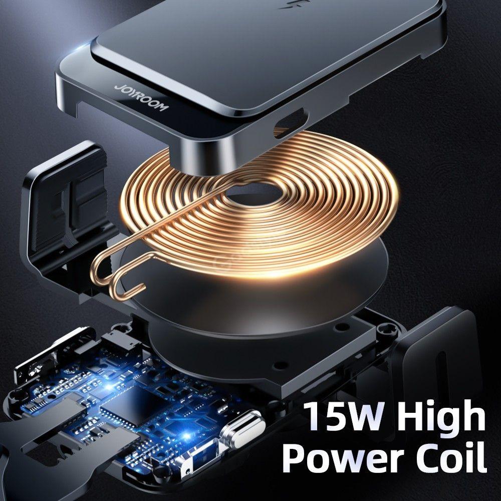 Joyroom Electric 15w Qi Wireless Charging Car Holder (2)