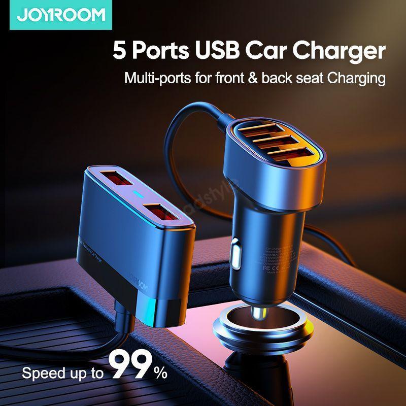 Joyroom Jr Cl03 Multi 5 Ports Usb Smart Car Charger (6)