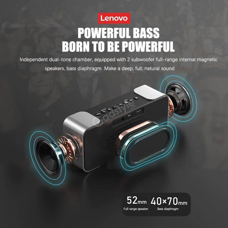 Lenovo L022 Led Alarm Clock Bluetooth Speaker (4)