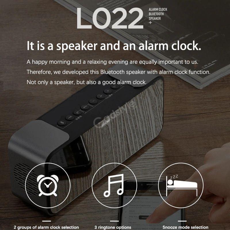 Lenovo L022 Led Alarm Clock Bluetooth Speaker (5)