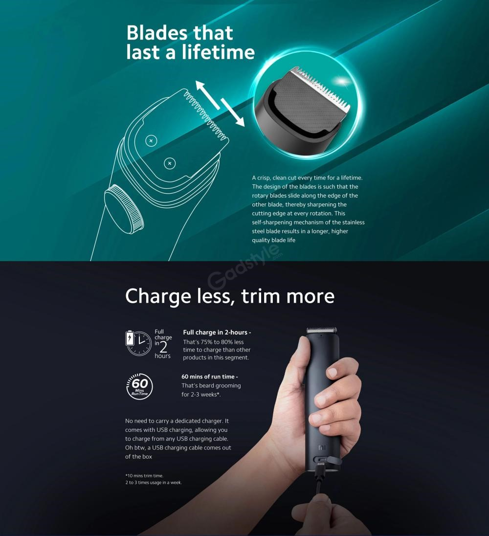 Mi Beard Trimmer 1c With 60 Minute Battery (1)