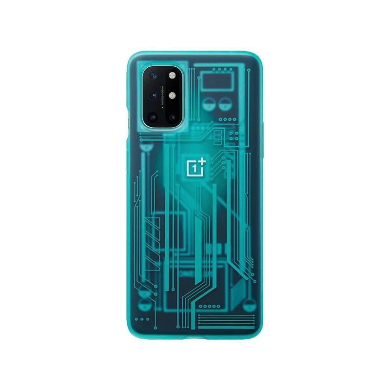 Oneplus 8t Quantum Bumper Case Cyborg Cyan (2)