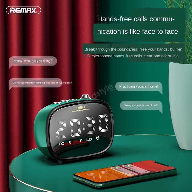 Remax M52 2 In 1 Led Clock Bluetooth Wireless Speaker (1)