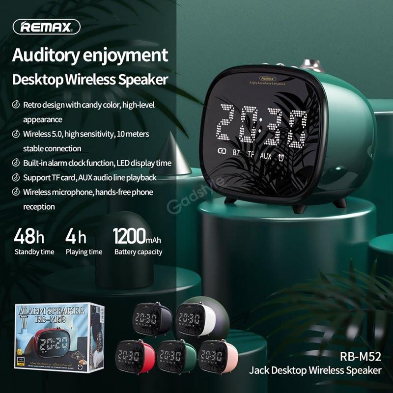 Remax M52 2 In 1 Led Clock Bluetooth Wireless Speaker (2)