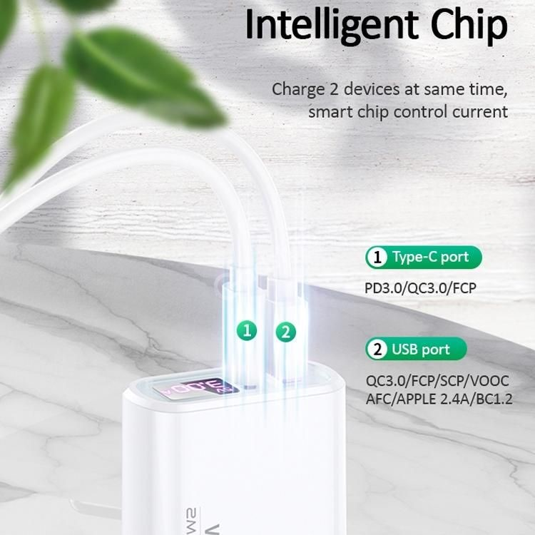 Usams Us Cc103 T30 18w Qc3 0pd3 0 Digital Display Fast Charging Travel Charger Powe ( (3)